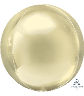 "16"" Orbz Pastel Yellow Foil Balloon"