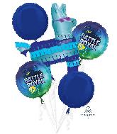 Bouquet Battle Royal Llama Foil Balloon