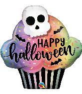 "32"" Halloween Cupcake Foil Balloon"