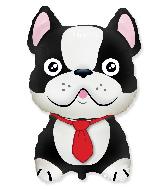 Jumbo French Bulldog Black Foil Balloon