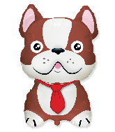 Jumbo French Bulldog Brown Foil Balloon