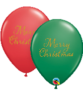 "11"" Merry Christmas Assortment Latex Balloons (50 Per bag)"