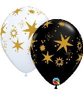 "11"" Star Patterns Latex Balloons (50 Per bag)"