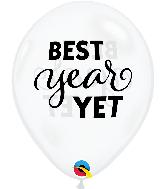 "11"" Best Year Yet Diamond Clear Latex Balloons (50 Per bag)"