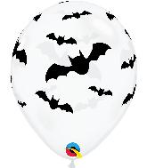 "11"" Bats Diamond Clear Latex Balloons (50 Per bag)"