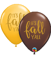 "11"" It's Fall Y'all Assortment Latex Balloons (50 Per bag)"
