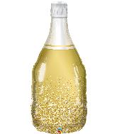 "39"" Golden Bubbly Wine Bottle Foil Balloon"