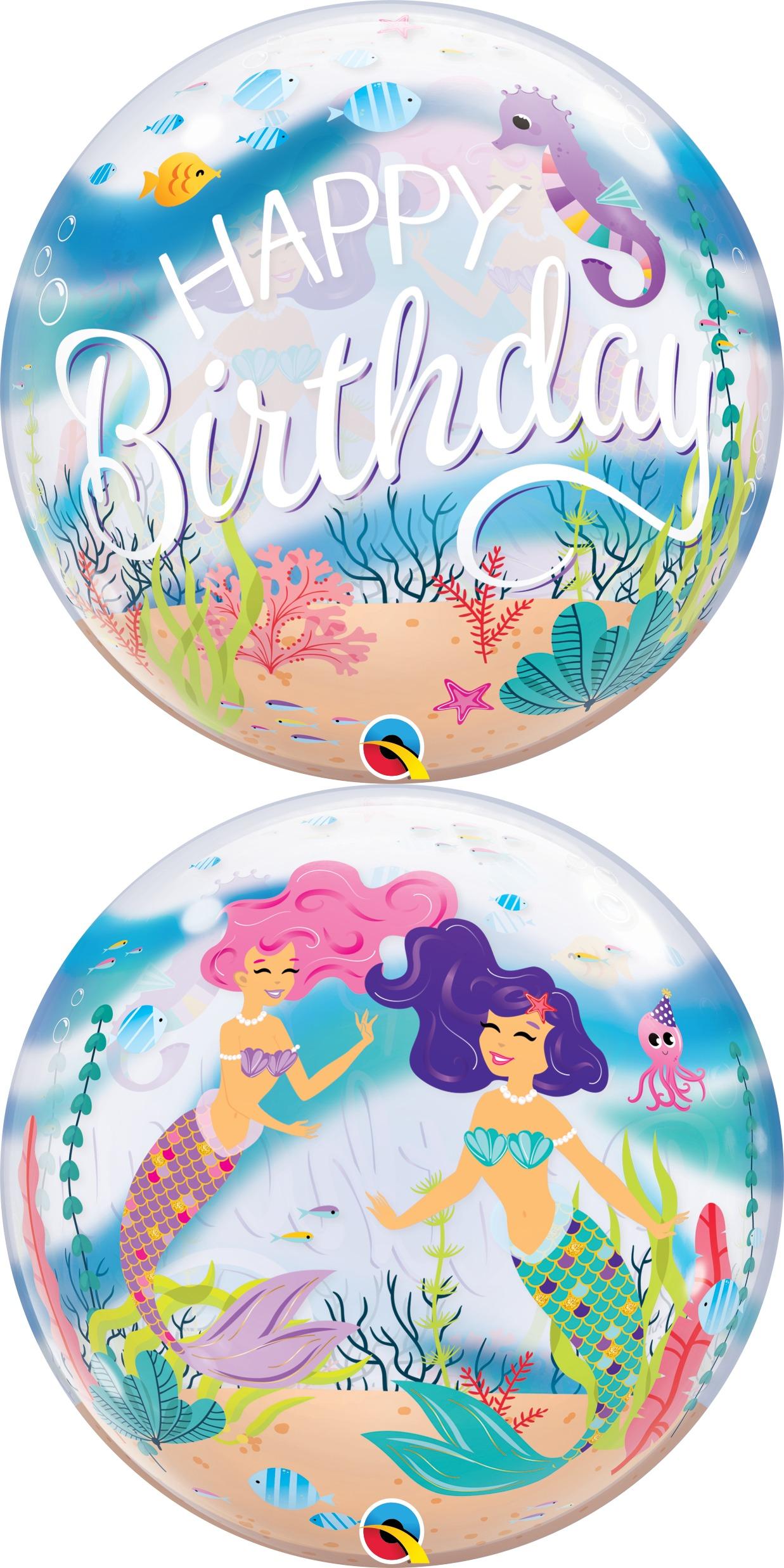 "22"" Mermaid Birthday Party Bubble Balloon"