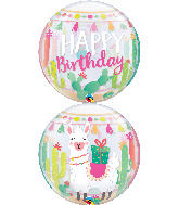 "22"" Llama Birthday Party Bubble Balloon"