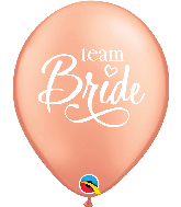 "11"" Team Bride Rose Gold Latex Balloons"