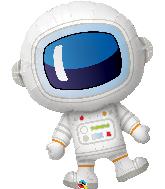 """37"""" Adorable Astronaut Foil Balloon"""