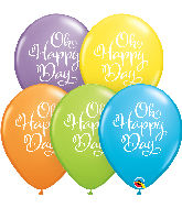 """11"""" Simply Oh Happy Day Bright Pastel Latex Balloons"""