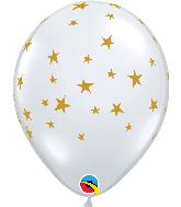 "11"" Contempo Stars Diamond Clear Latex Balloons"