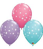 "11"" Contempo Stars Assortment Latex Balloons"