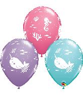 "11"" Fun Under The Sea Assortment Latex Balloons"
