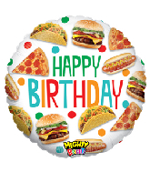 "21"" Mighty Bright® Balloon Mighty Food Birthday"