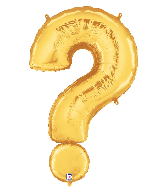 "40"" Foil Balloon Question Mark ( ? ) Gold"