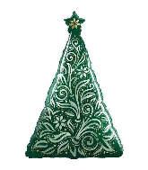 """39"""" Damask Christmas Tree"""
