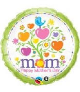 """18"""" Mother'S Day Blooming Hearts Foil Balloon"""