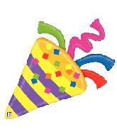 "42"" Foil Shape Balloon Emoji Emoticon Party Horn"