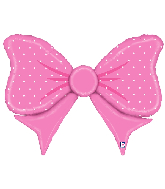"43"" Foil Shape Balloon Pink Bow"