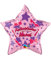 "18"" Felicidades Mama Stars Foil Balloon"