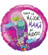 """18"""" Para La Mejor Mama Del Mundo Foil Balloon"""