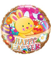 "18"" Easter Basket & Bunny Foil Balloon"