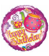 """18"""" Birthday Teatime Mylar Balloon"""