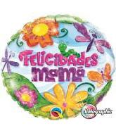 """18"""" Felicidades Mama Glitzy Garden Foil Balloon"""