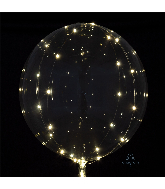 """18"""" Crystal Clearz White Lights Balloon"""