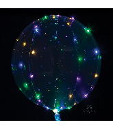 """18"""" Crystal Clearz Multi Colored Lights Balloon"""