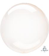 "18"" Crystal Clearz Orange Balloon"