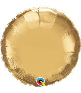 """18"""" Round Qualatex Chrome Gold Foil Balloon"""