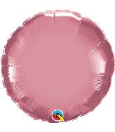 "18"" Round Qualatex Chrome Mauve Foil Balloon"