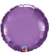 """18"""" Round Qualatex Chrome Purple Foil Balloon"""