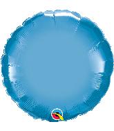 """18"""" Round Qualatex Chrome Blue Foil Balloon"""