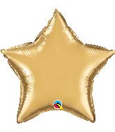 """20"""" Star Qualatex Chrome Gold Foil Balloon"""
