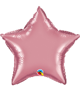 "20"" Star Qualatex Chrome Mauve Foil Balloon"