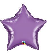 """20"""" Star Qualatex Chrome Purple Foil Balloon"""
