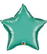 """20"""" Star Qualatex Chrome Green Foil Balloon"""