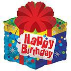 "18"" Birthday Gift Shape Foil Balloon"