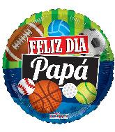 "18"" Feliz Día Papá Deportes Foil Balloon"