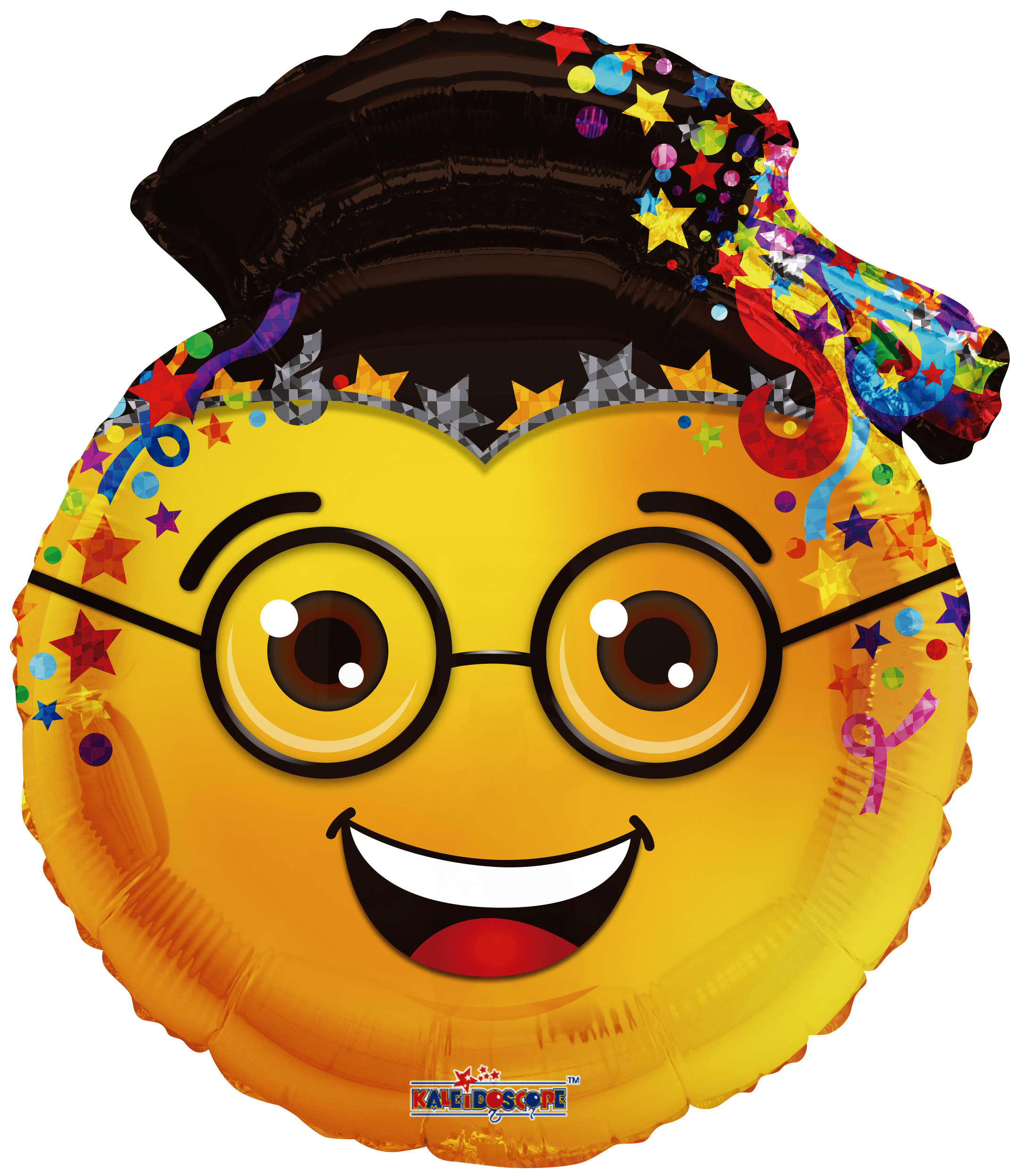 "24"" Smiley Face Graduation Shape Foil Balloon"