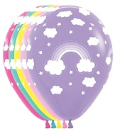 "11"" Magical Rainbow Balloons (50 ct.)"