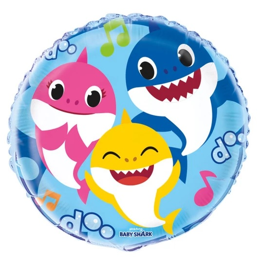 "18"" Pinkfong Baby Shark Foil Balloon Packaged"