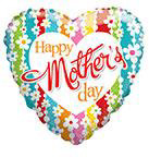 """36"""" Happy Mother Day Daisies Foil Balloon"""