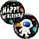 """18"""" Birthday Astronaut Foil Balloon"""