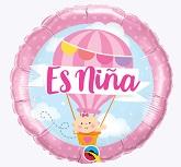 """18"""" Es Niña Hot Air Balloon Foil Balloon"""