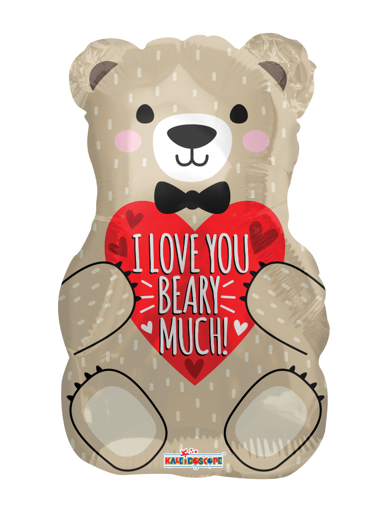 """18"""" I Love You Bear With Bow Foil Balloon"""